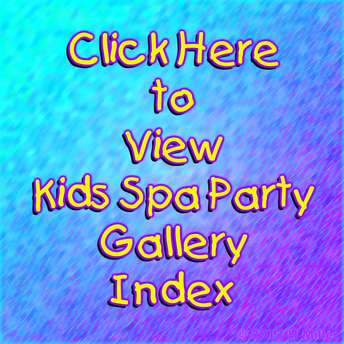 Kids Spa Parties Gallery