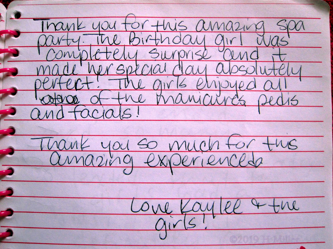 Kaylee's Kids Spa Review