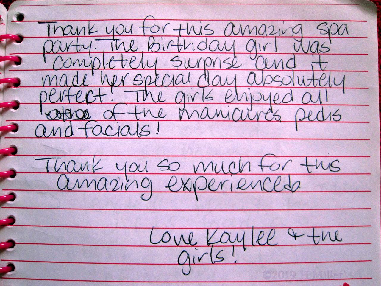 Kaylee's Kids Spa Review