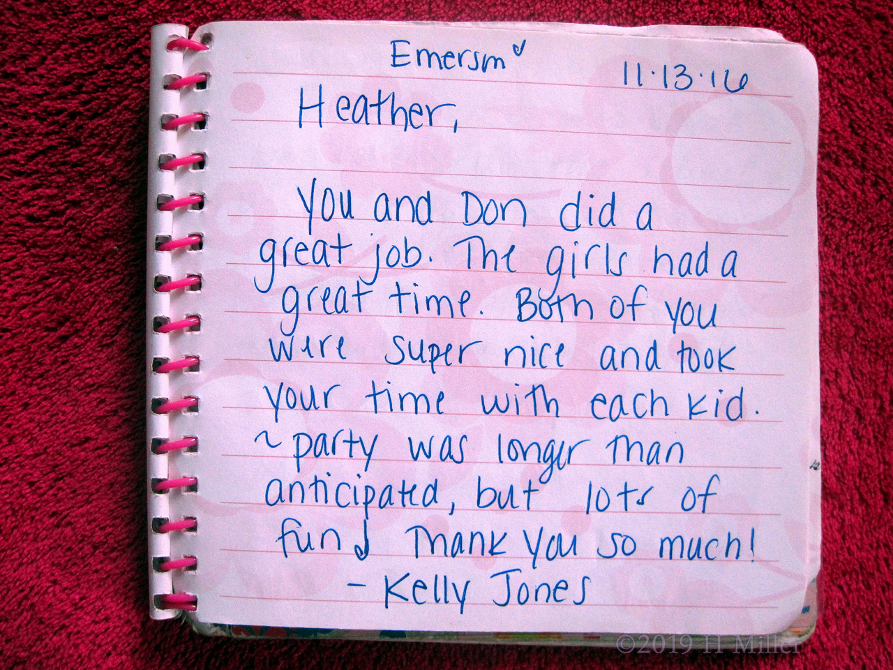 Kelly and Emerson's Spa Party Review