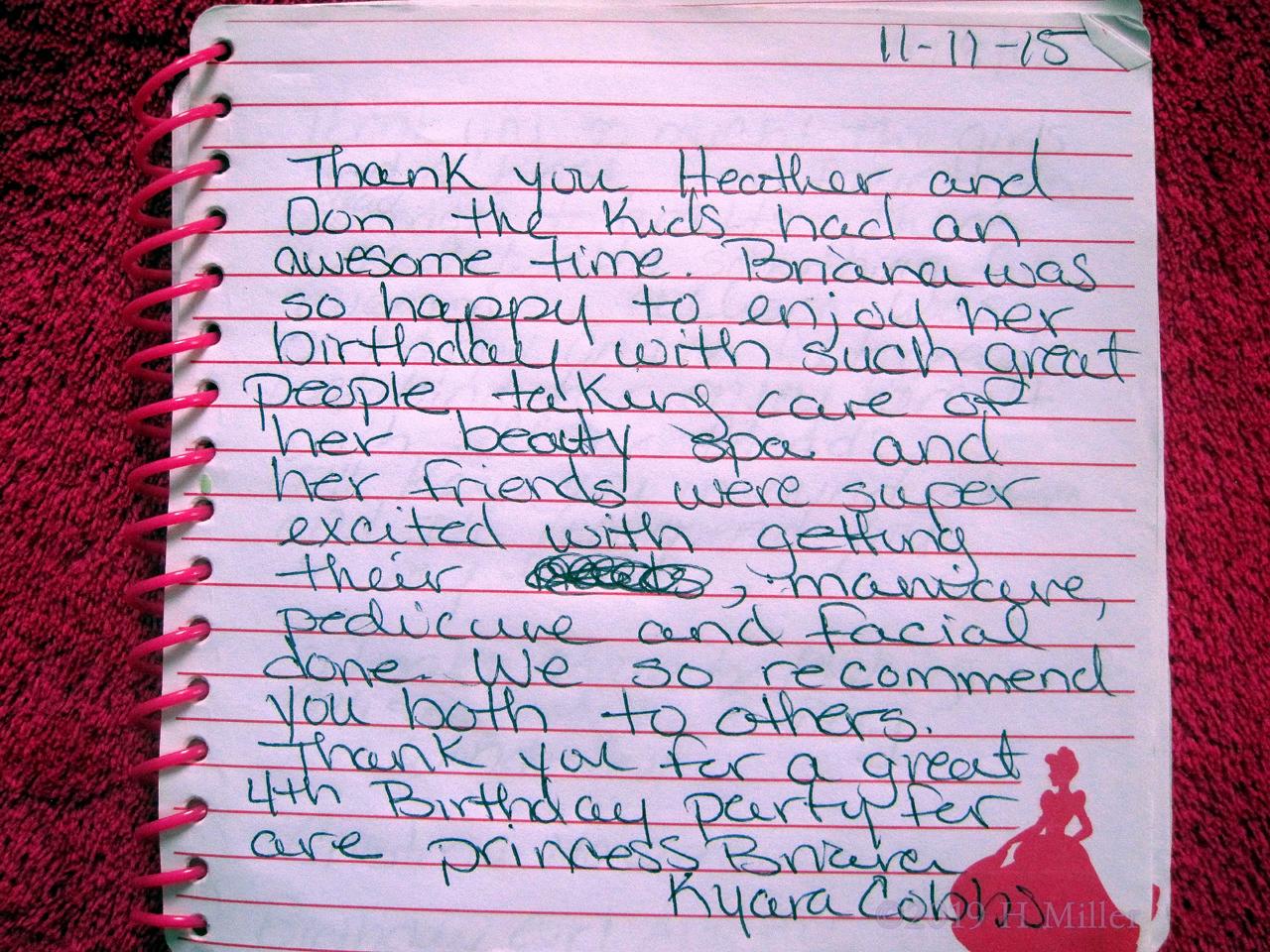 Kyara And Briana's Girls Spa Review
