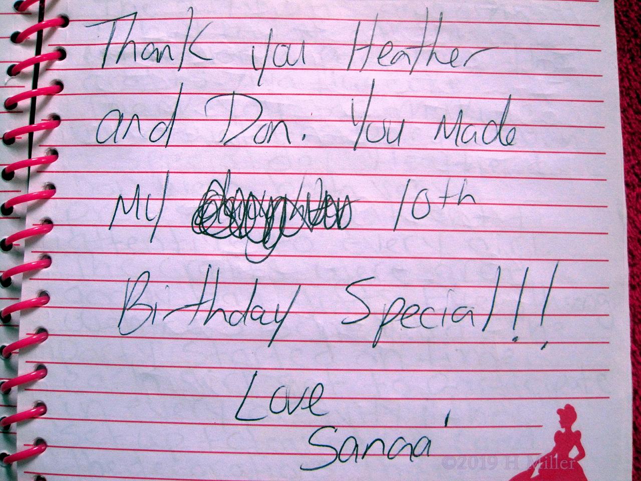 Sanaa's Kids Spa Review