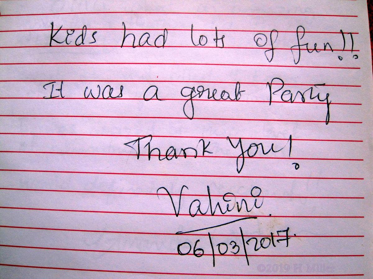 Vahini's Kids Spa Review